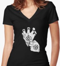 Fullmetal Alchemist - Roy Mustang Gloves Women's Fitted V-Neck T-Shirt