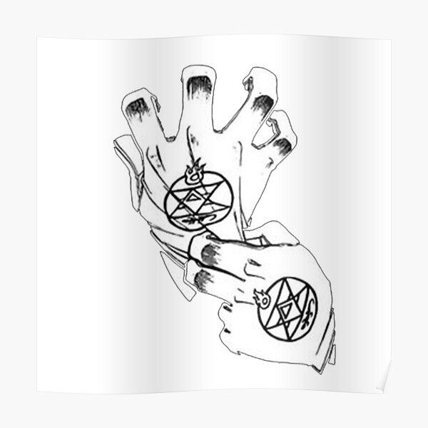 Fullmetal Alchemist - Roy Mustang Gloves Poster