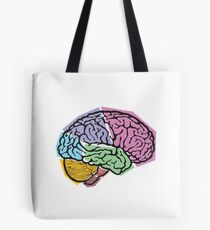 Brain areas Tote Bag