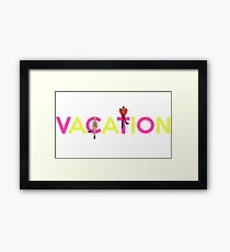 Vacation // Superfruit (White) Framed Print