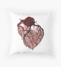 Watercolour Heart  Throw Pillow