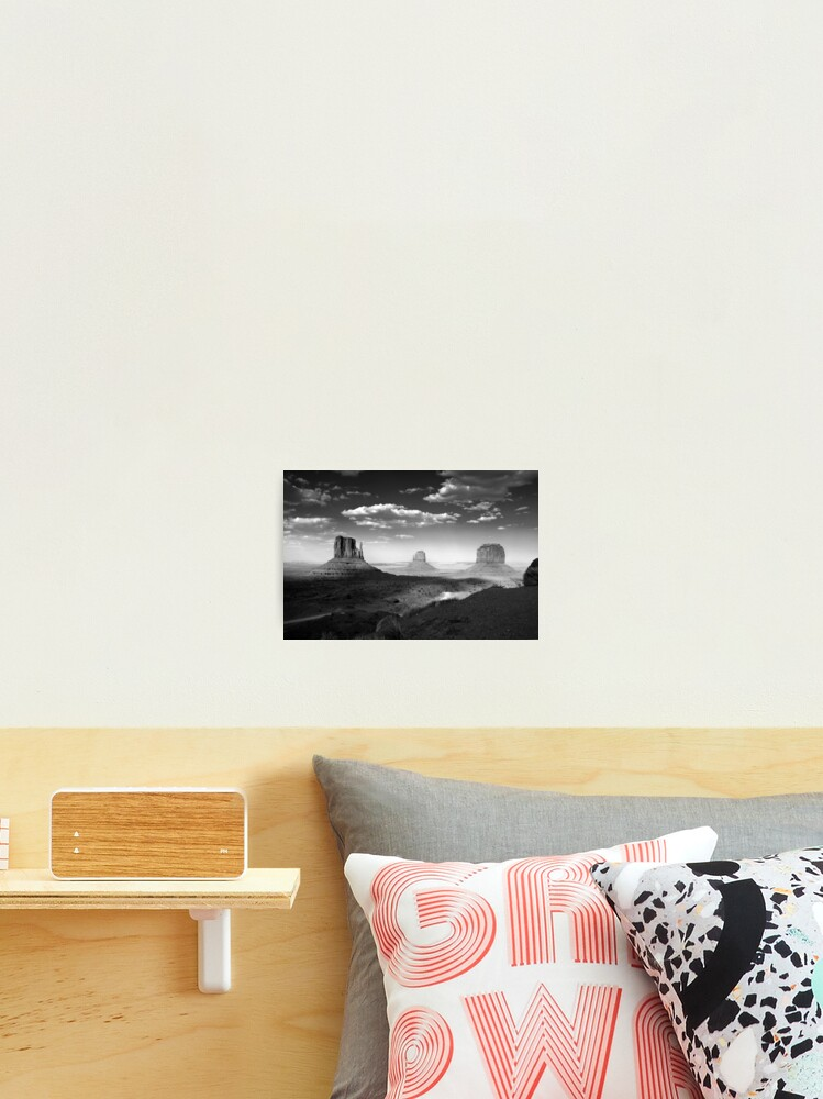 Monument Valley In Black White Photographic Print By Gvazdesigns Redbubble