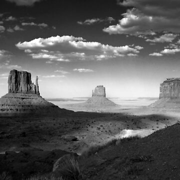 Monument Valley in Black & White  by GVAZDesigns