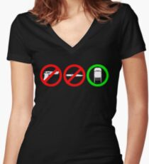 Just  Chairs Women's Fitted V-Neck T-Shirt