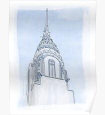 Chrysler Building Digital Illustration Poster