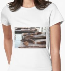 sea lion 4 Women's Fitted T-Shirt