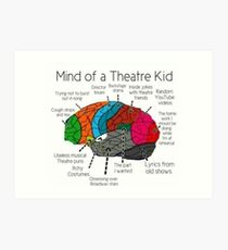 Mind Of a Theater Kid Art Print