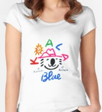 Koala Blue - Olivia Newton-John Women's Fitted Scoop T-Shirt