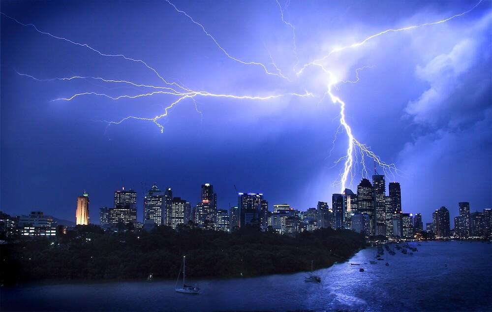 Brisbane City Lightning Strike by Troy Curry