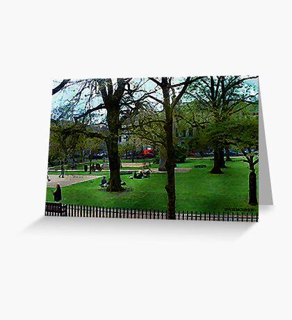 Bath City Green Greeting Card