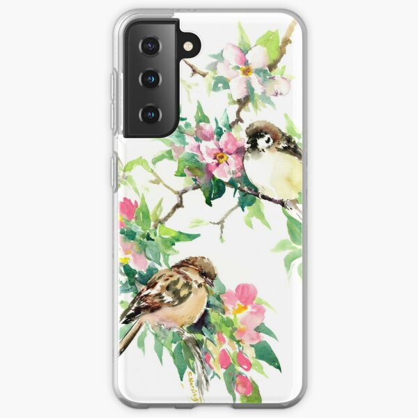 Sparrows adn Apple Blossom Samsung Galaxy Soft Case