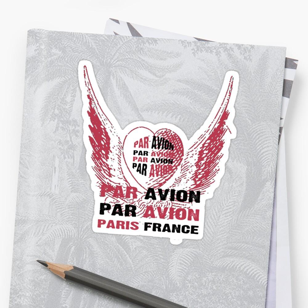 Heart Wings Paris Par Avion Series by Zehda