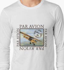 Vintage Airplane Par Avion Series Long Sleeve T-Shirt
