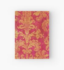 Red and Gold Damask Hardcover Journal