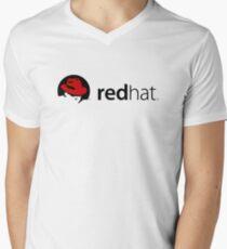 Redhat Men's V-Neck T-Shirt