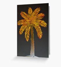 Vivid Palm Finger Painted MKART Greeting Card