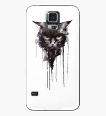 Angry Cat T shirt Case/Skin for Samsung Galaxy