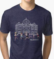 Melbourne Flinders Street Running Range linework Tri-blend T-Shirt