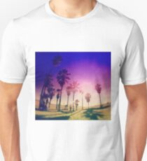 Colorful Palm Trees on a Beach Unisex T-Shirt
