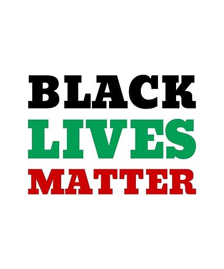 Black Lives Matter (Schwarz, Grün, Rot) von cnkna