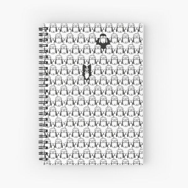 Border Collie and Black Sheep Spiral Notebook