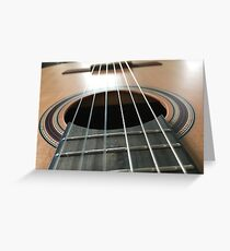 Guitar player Greeting Card