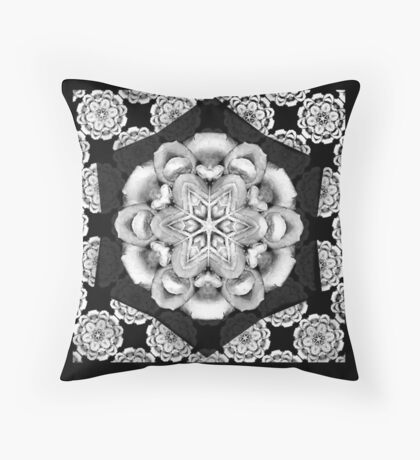 old fashioned lace pattern  Throw Pillow
