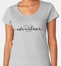 And So The Adventure Begins - Foggy Trees Forest Wall Decor Women's Premium T-Shirt