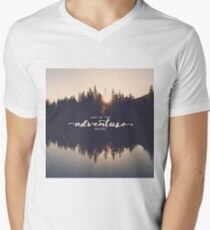 And So The Adventure Begins - Woods Trees Forest Wall Decor T-Shirt