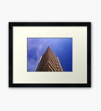 sharp skies above Framed Print