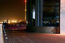 Tel Aviv port at night by Moshe Cohen