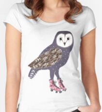 I skate OWL night long Women's Fitted Scoop T-Shirt