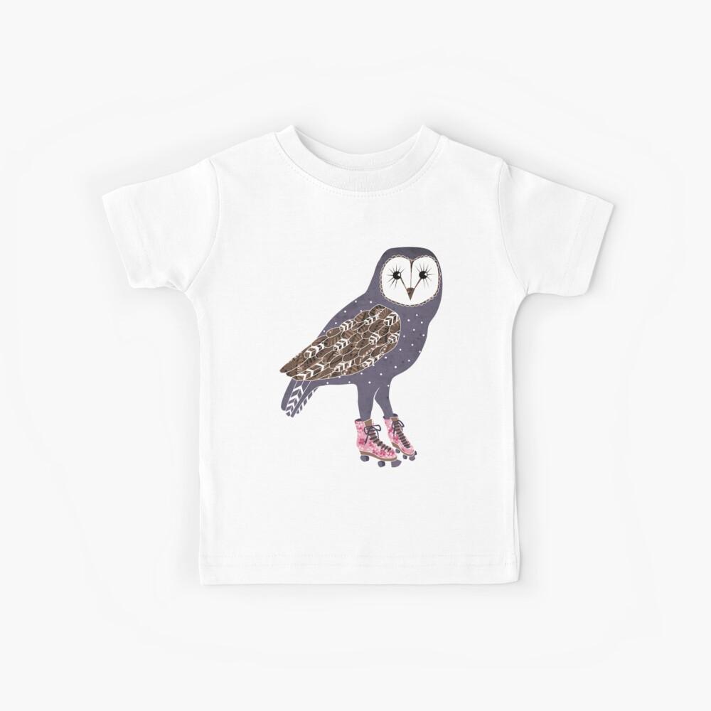 I skate OWL night long Kids T-Shirt
