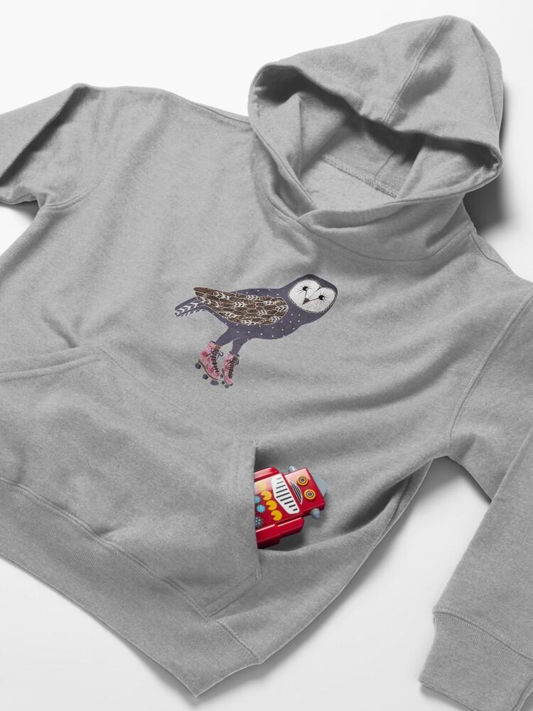Alternative Ansicht von Ich skate OWL Nacht lang Kinder Hoodie