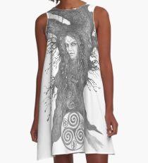 Asche A-Linien Kleid