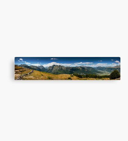 Climbing Vrh Bora Canvas Print