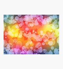 Colorful Light Effect Photographic Print