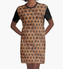 ROYAL1 SCHWARZER MARMOR UND BRAUNER STEIN T-Shirt Kleid