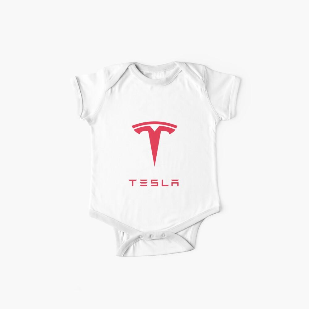 Logotipo de Tesla Motors Inc Bodies para bebé