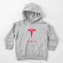 Tesla Motors Inc Logo Toddler Pullover Hoodie