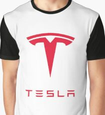 Tesla Motors Inc Logo Graphic T-Shirt