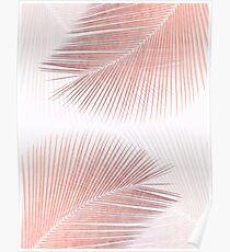 Palm leaf synchronicity - rose gold Poster