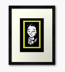 Del the Funky Homosapien - No Need For Alarm cartoon head replica shirt Framed Print