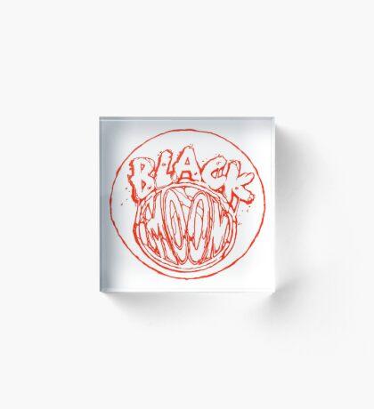 Black Moon chest logo  Acrylic Block
