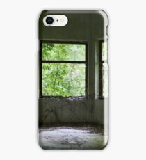 Green curtains iPhone Case/Skin