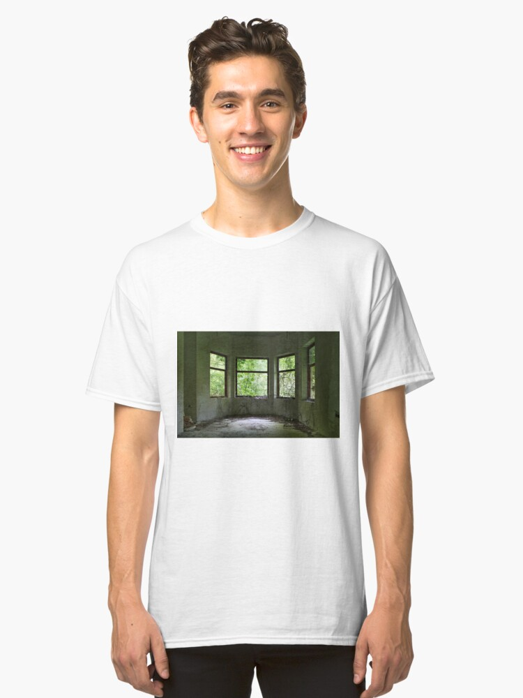 Alternate view of Green curtains Classic T-Shirt