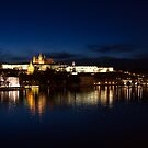 Prague Castle @night by Dominika Aniola