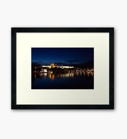 Prague Castle @night Framed Print