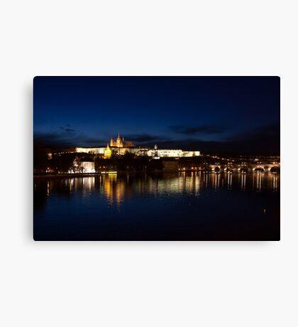Prague Castle @night Canvas Print