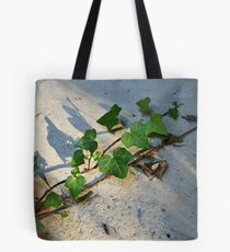 Ivy in abandoned guesthouse Tote Bag
